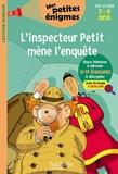 L'inspecteur Petit mène l'enquête - Mes petites énigmes CE1 et CE2 - Cahier de vacances 2021