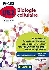 Biologie cellulaire-UE2 PACES -2e éd. - Manuel, cours + QCM corrigés - Manuel, cours + QCM corrigés d'Alexandre Fradagrada
