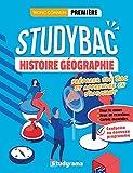 Cahier Studybac - Histoire-Géographie - première - Tronc commun - Préparer son Bac et apprendre en s'amusant