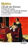 L'Ecole des femmes, l'école des maris by Molière (1985-11-14) - Gallimard - 14/11/1985