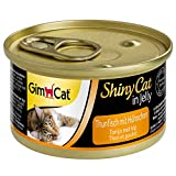 GimCat ShinyCat in Jelly Thon au poulet – Nourriture humide pour chats au poisson et à la taurine – 24 boîtes (24 à 70 g)