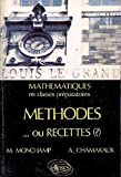 METHODES OU RECETTES