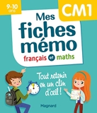 Mes fiches mémo Français et Maths CM1 - Tout retenir en un clin d'oeil 2020