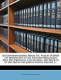 Les Contemplations - Nouv. Ed., Publiee D'Apres Les Manuscrits Et Les Editions Originales Avec Des Variantes, Une Introd., Des Notices Et D - Nabu Press - 22/01/2012