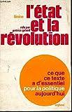 L'ETAT ET LA REVOLUTION. - SEGHERS