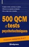 500 QCM et tests psychotechniques - JEUNES EDITIONS Studyrama - 22/08/2006