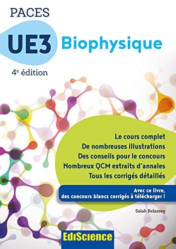 PACES UE3 Biophysique - 4e éd. - Manuel, cours + QCM corrigés - Format Kindle - 16,99 €