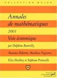 Annales de mathématiques 2001, voie économique