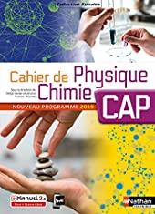 Cahier de Physique-Chimie CAP de Jessica Estevez-Brienne