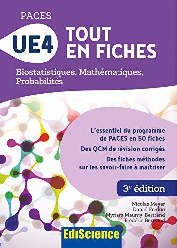 PACES UE4 Tout en fiches - Biostatistiques, Mathématiques, Probabilités