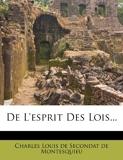 De L'esprit Des Lois... - Nabu Press - 01/04/2019