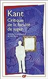 Critique de la faculté de juger - Format Kindle - 9,49 €