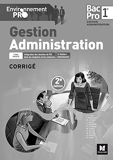 Environnement Pro - Gestion-Administration 1re BAC PRO GA - corrigé by Catherine Joliclercq (2016-05-12) - Foucher - 12/05/2016