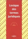 Lexique des termes juridiques - Edition 2002 - Dalloz - 21/08/2001