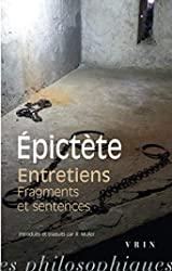 Entretiens fragments et sentences - Fragments ; Sentences d'Epictète