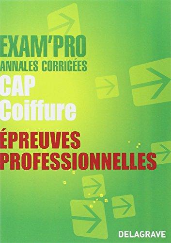 Epreuves professionnelles CAP Coiffure