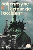 L'Erreur de l'Occident - Le Livre de poche - 01/01/1982