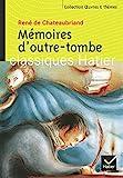 Mémoires d'outre-tombe - Hatier - 01/04/2004