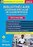 Bibliothécaire assistant spécialisé classe normale - Concours externe / Concours interne