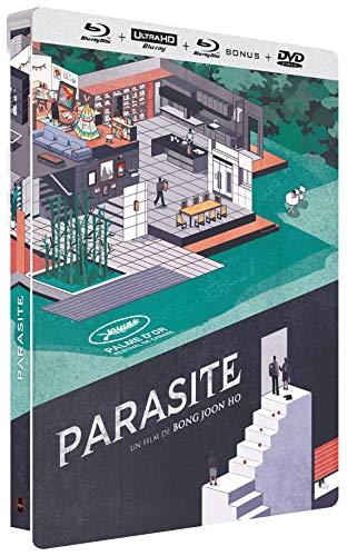 Parasite Collector-4K [Édition boîtier SteelBook Ultra HD Blu-Ray Bonus + DVD] [Édition Collector - 4K Ultra HD + Blu-ray + Blu-ray bonus + DVD]
