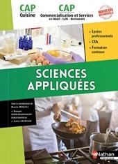 Sciences appliquées - CAP Cuisine et CAP Commercialisation et Services en HRC de Margaret Andriamampandry-Rakotoarivelo