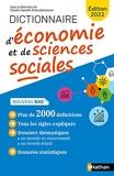 Dictionnaire d'Economie et de Sciences Sociales - NE - Edition 2022 - Bac et études supérieures