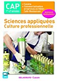 Sciences appliquées - Culture professionnelle CAP Cuisine et CSHCR (2017) - Po