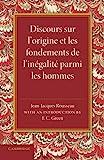 Discours sur l'origine et les fondements de l'inegalite parmi les hommes by Jean-Jacques Rousseau (2014-09-03) - Cambridge University Press - 03/09/2014