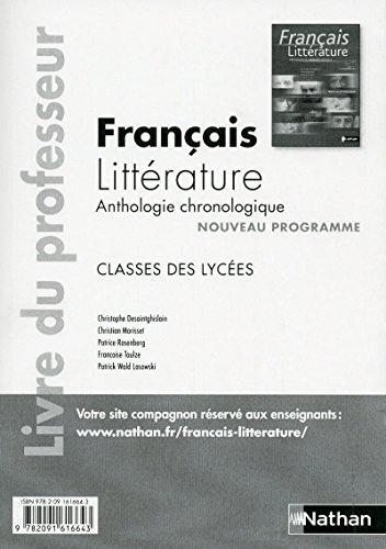 Français-Littérature, Anthologie chronologique 2nde,1ère