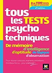 Tous les tests psychotechniques, mémoire, intelligence, aptitude, logique, observation - Concours de Michèle Eckenschwiller