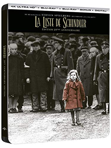 La Liste de Schindler [Édition 25ème anniversaire-4K Ultra HD Blu-Ray Bonus + Digital-Boîtier SteelBook]