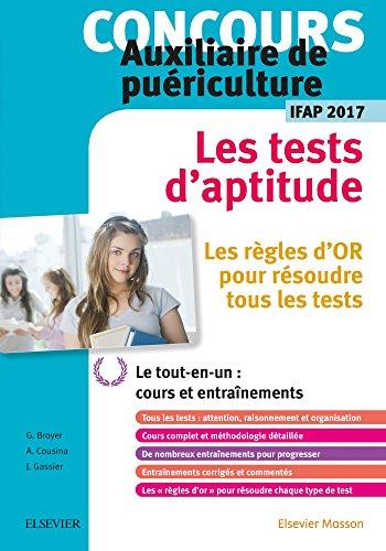 Concours Auxiliaire de puériculture - Les tests d'aptitude - IFAP 2017