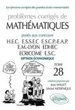 Mathématiques HEC 2006-2007 - Tome 28 (option économique)
