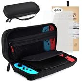 Accessoire pour Nintendo Switch comprend Housse pour Nintendo Switch + Protecteur D'écran en Verre Trempé de Qualité Supérieure(2 Pack)