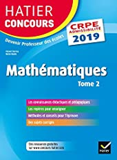 Hatier Concours CRPE 2019 - Mathématiques Tome 2 - Epreuve écrite d'admissibilité de Roland Charnay