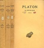 PLATON, OEUVRES COMPLETES, TOME VI + TOME VII 1re ET 2e PARTIES, LA REPUBLIQUE, LIVRES I-X (3 VOLUMES) - Les Belles Lettres