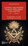 La franc-maçonnerie rendue intelligible à ses adeptes (Tome 1-L'apprenti) Sa philosophie, son objet, sa méthode, ses moyens
