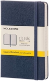 Moleskine - Carnet de Notes Classique Papier à Grille de Pointillés - Journal Couverture Rigide et Fermeture par Elastique - Couleur Bleu Saphir - Taille Format de Poche 9 x 14 cm - 192 Pages