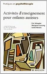 Activités d'enseignement pour enfants autistes d'Éric Schopler