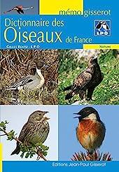 Dictionnaire des oiseaux de France de Gilles Bentz