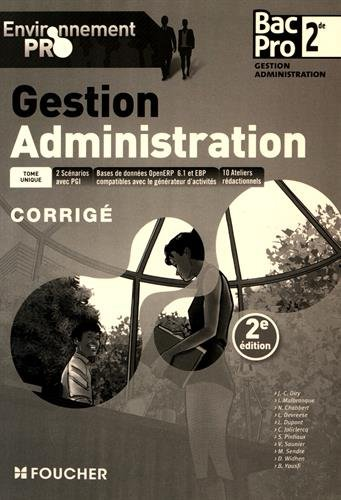 Environnement pro Gestion Administration 2de BAC PRO