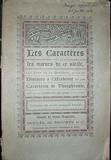 LES CARACTERES ou les moeurs de ce siècle, par Jean de La Bruyère, suivis des Caratères de Théophraste, traduits du grec, et du Discours à l'Académie. - Desclee De Brouwer / Societe De Saint-Augustin - 01/01/2013