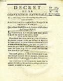 DECRET DE LA CONVENTION NATIONALE, N° 1362 & 1162, QUI ORDONNE L'ETABLISSEMENT DE GRENIERS D'ABONDANCE DANS CHAQUE DISTRICT