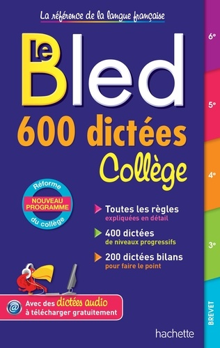 Bled 600 dictées Collège - Format PDF - 9782017858744 - 5,99 €