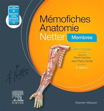 Mémofiches Anatomie Netter - Membres - 9782294759338 - 18,35 €
